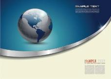 矢量地球商务背景