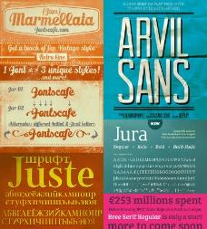 87套商业广告设计英文字体图片