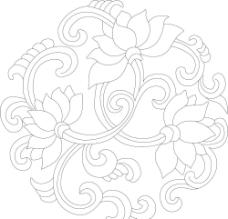 古典 图案 窗花 木工花 边框 条纹 中国风 花 矢量图片
