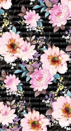 手绘花卉素材图案图片