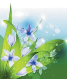 植物背景矢量素材矢量图