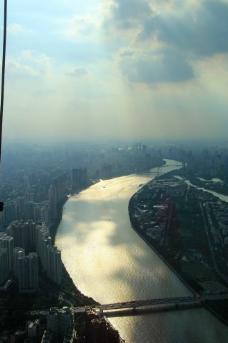日落珠江图片