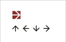 广告标示标准方向箭头图片