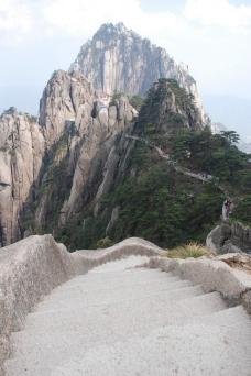 黄山栈道图片