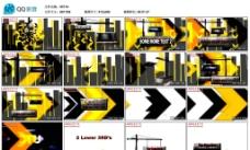 黄色3D立体设计AE模版