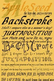 书法英文字体