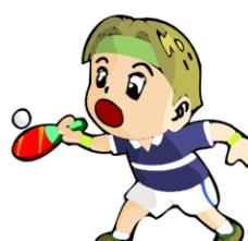 乒乓球 卡通运动人物图片