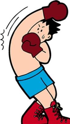 拳击 卡通运动人物图片图片