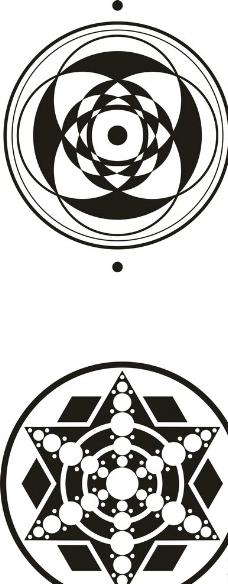 麦田怪圈矢量图片