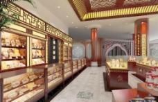 中式贵细药品柜台装饰图片