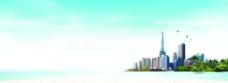 蓝天海岛图片
