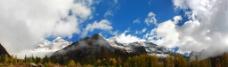 雪山 蓝天图片