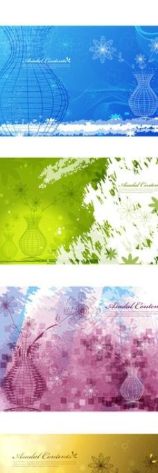 花瓶花纹图片