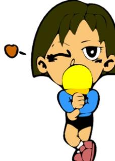 卡通乒乓球运动人物图片