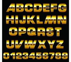 黄金字母图片