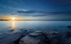 海边晚霞图片