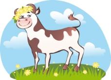 精美可爱奶牛矢量素材