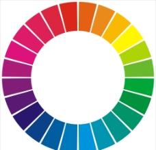 24色色轮图片