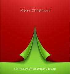 精美卷角创意圣诞树背景素材