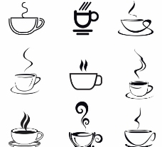 手绘咖啡图片