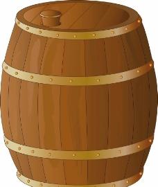 酒桶木桶图片