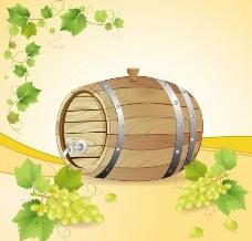 葡萄酒酒桶图片