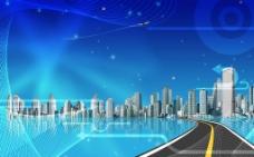 城市发展海报图片
