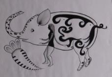 图形创意 猪像象图片