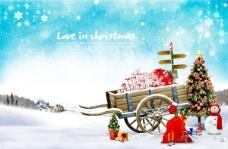 爱在圣诞节PSD素材