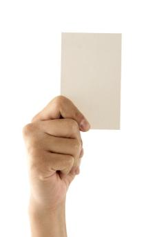 手拿白纸图片
