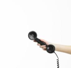 电话听筒 手拿听筒图片