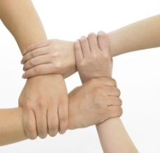 团结 联合牵手图片