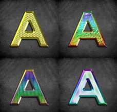 金属质感字母图片