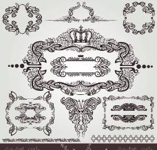 欧式花纹 边框 标签图片