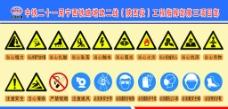 施工警示标志图片