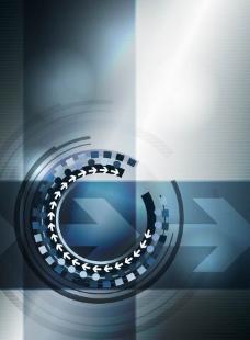 旋转动感箭头环路 商务科技背景图片