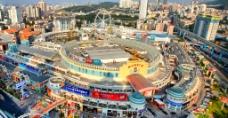某商场大型城市鸟瞰图图片