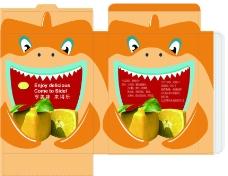 橙味食品包装盒图片