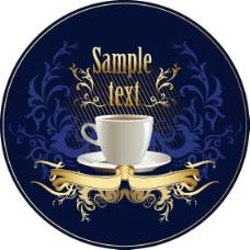 矢量咖啡元素背景广告设计