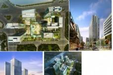 郑州绿地建筑小区规划效果图 多角度源文件