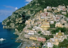 海边村落图片