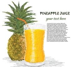 手绘菠萝菠萝汁图片