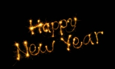 新年快乐烟火图片