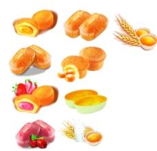 面包 蛋黄派图片