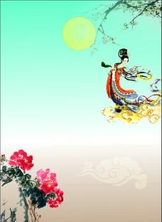 中秋节宣传矢量背景 中秋海报背景图片