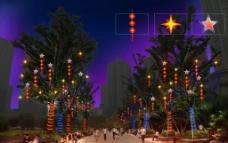 树木亮化装饰图片