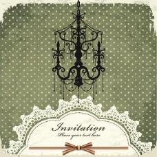 矢量欧式吊灯古典背景图片设计