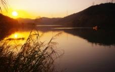 日落 夕阳 梅江图片