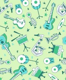 鼓吉他笛子底纹图片