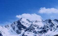九龙藏区雪山图片